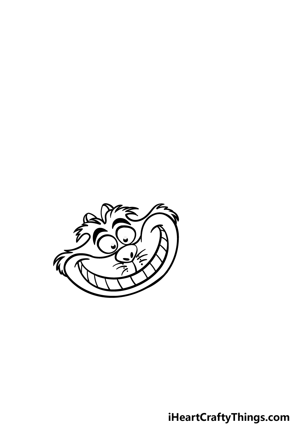 drawing the Cheshire Cat step 2