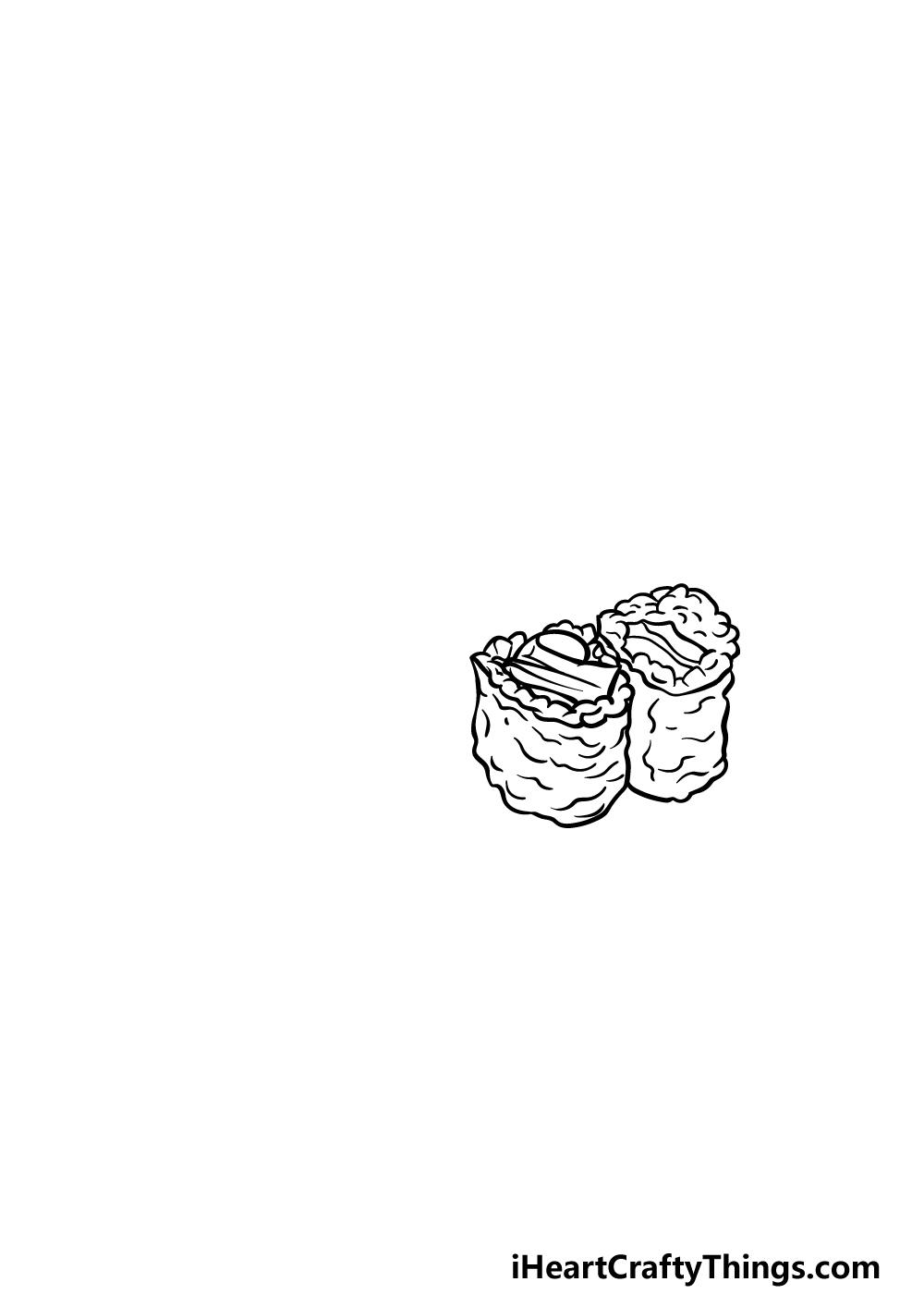 drawing sushi step 2