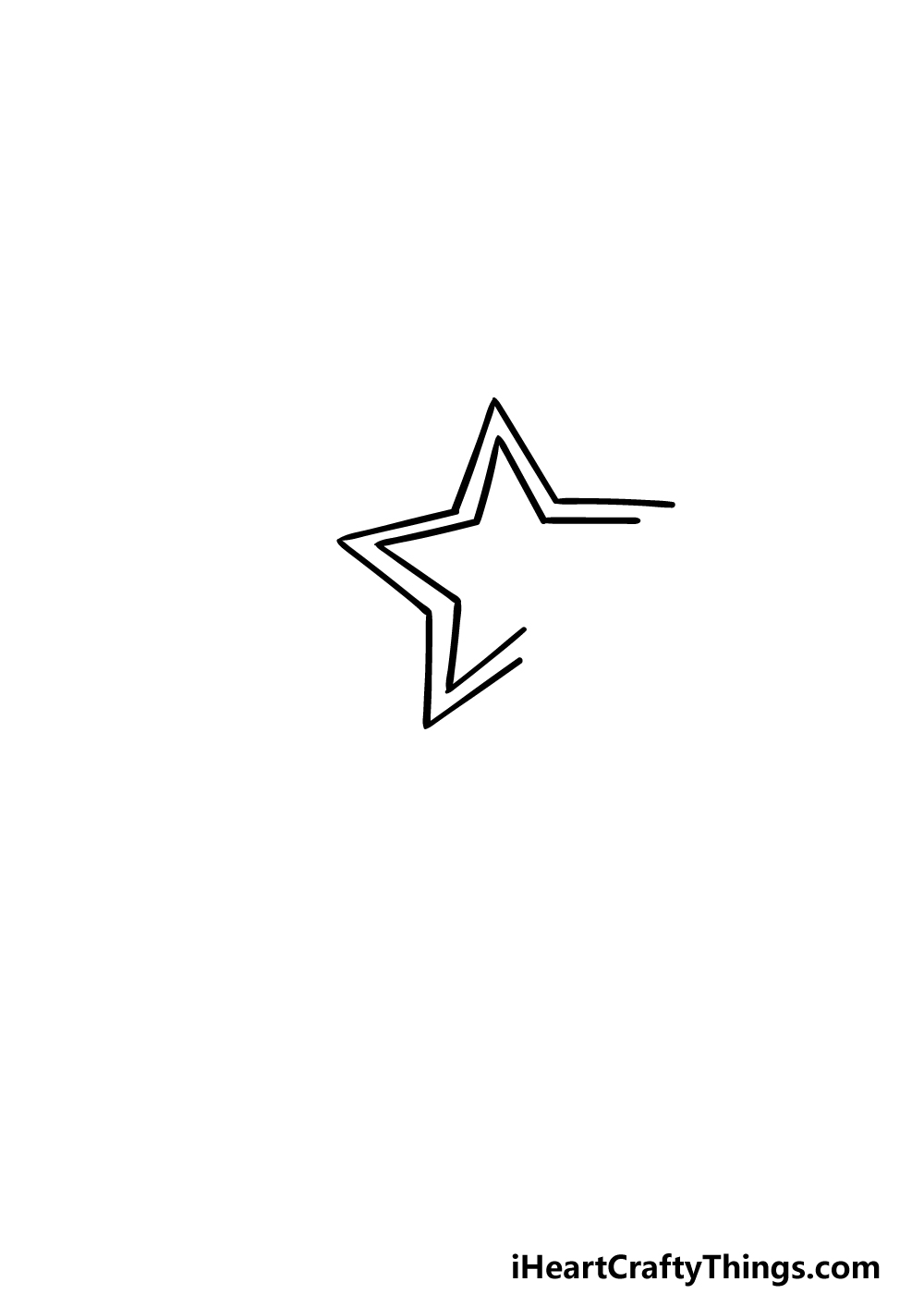 drawing a Shooting Star step 2