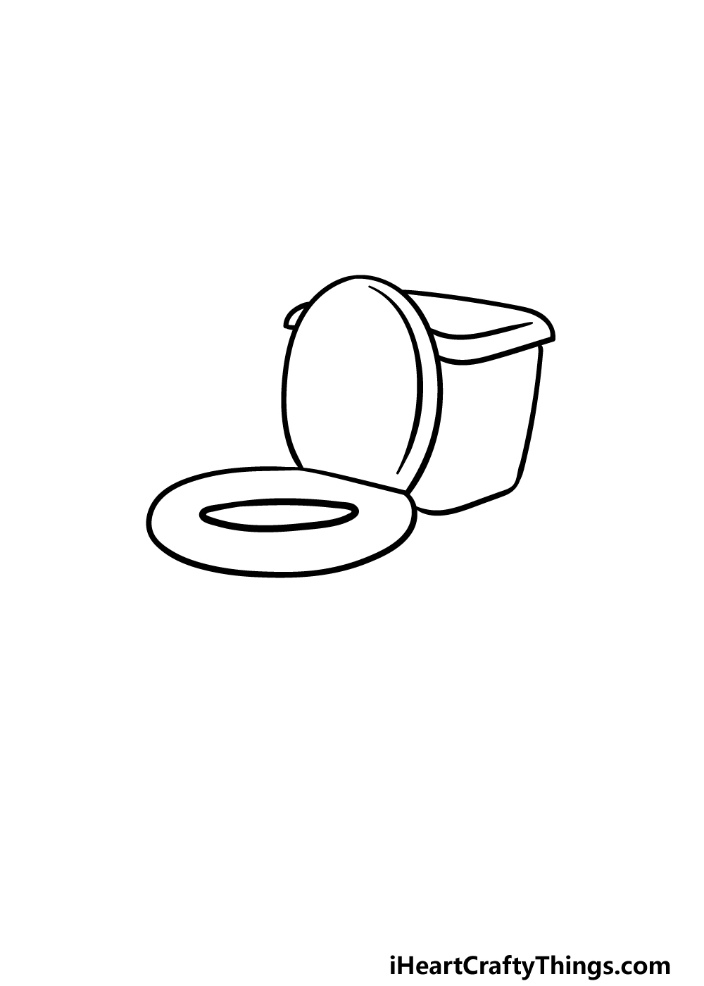 drawing a toilet step 1