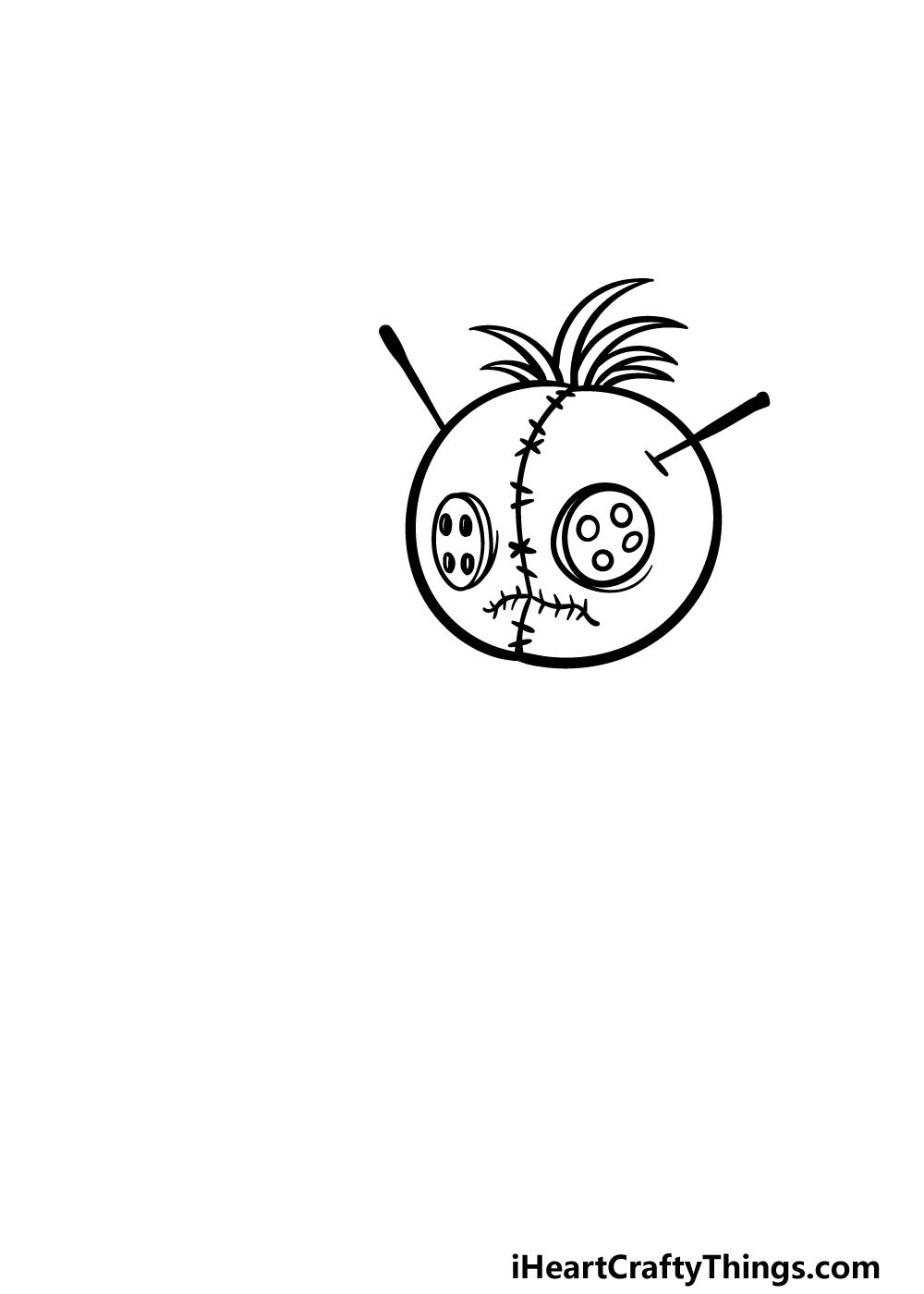 drawng a Voodoo Doll step 2