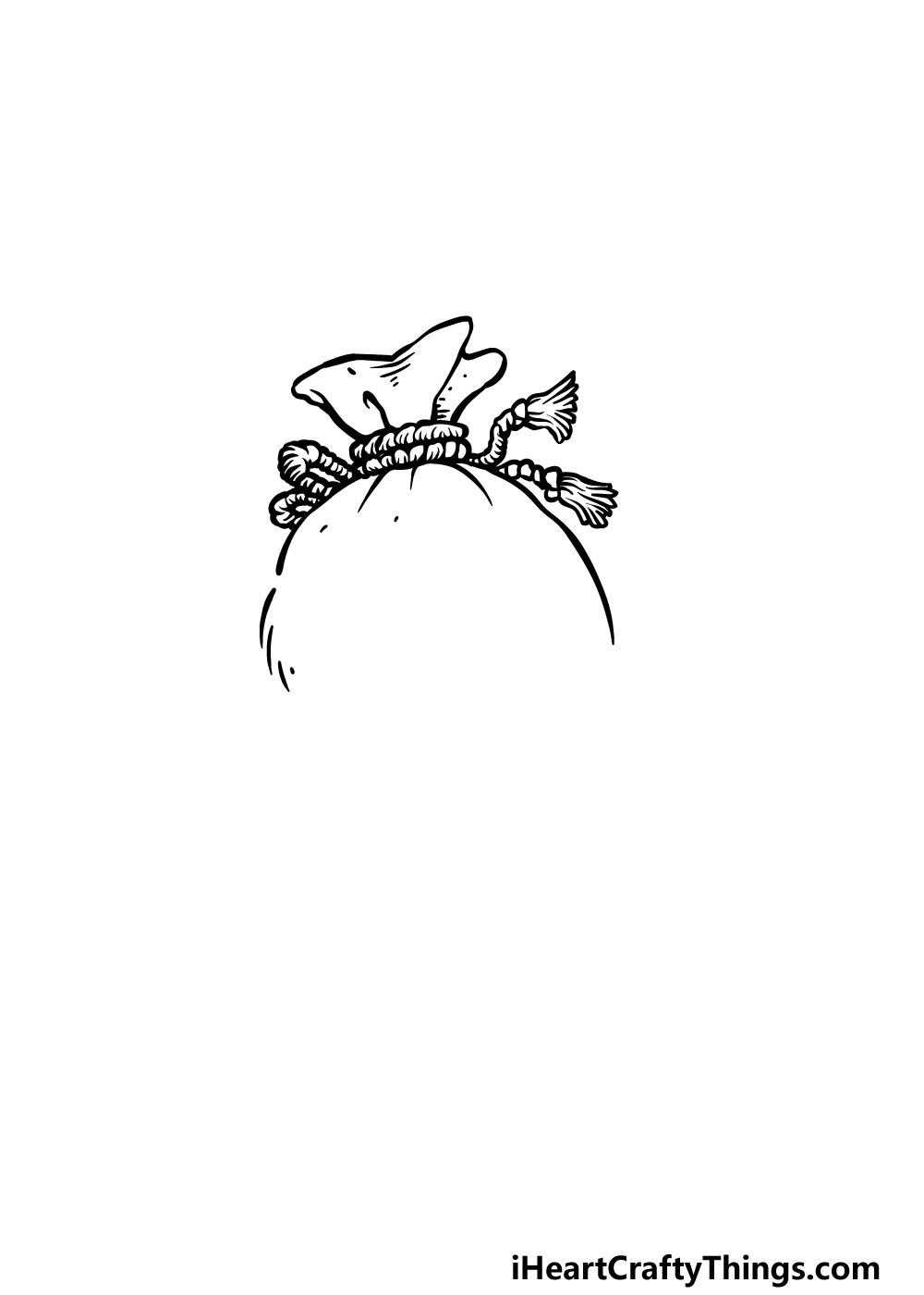 drawing a money bag step 2