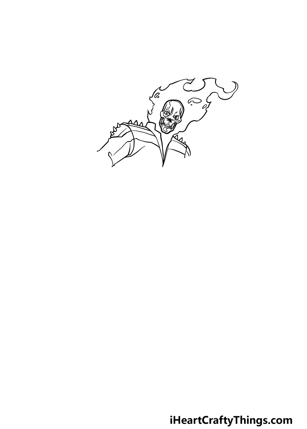 drawing Ghost Rider step 2