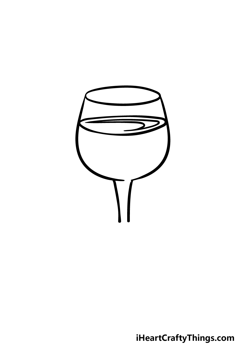 drawing a wine glass step 2