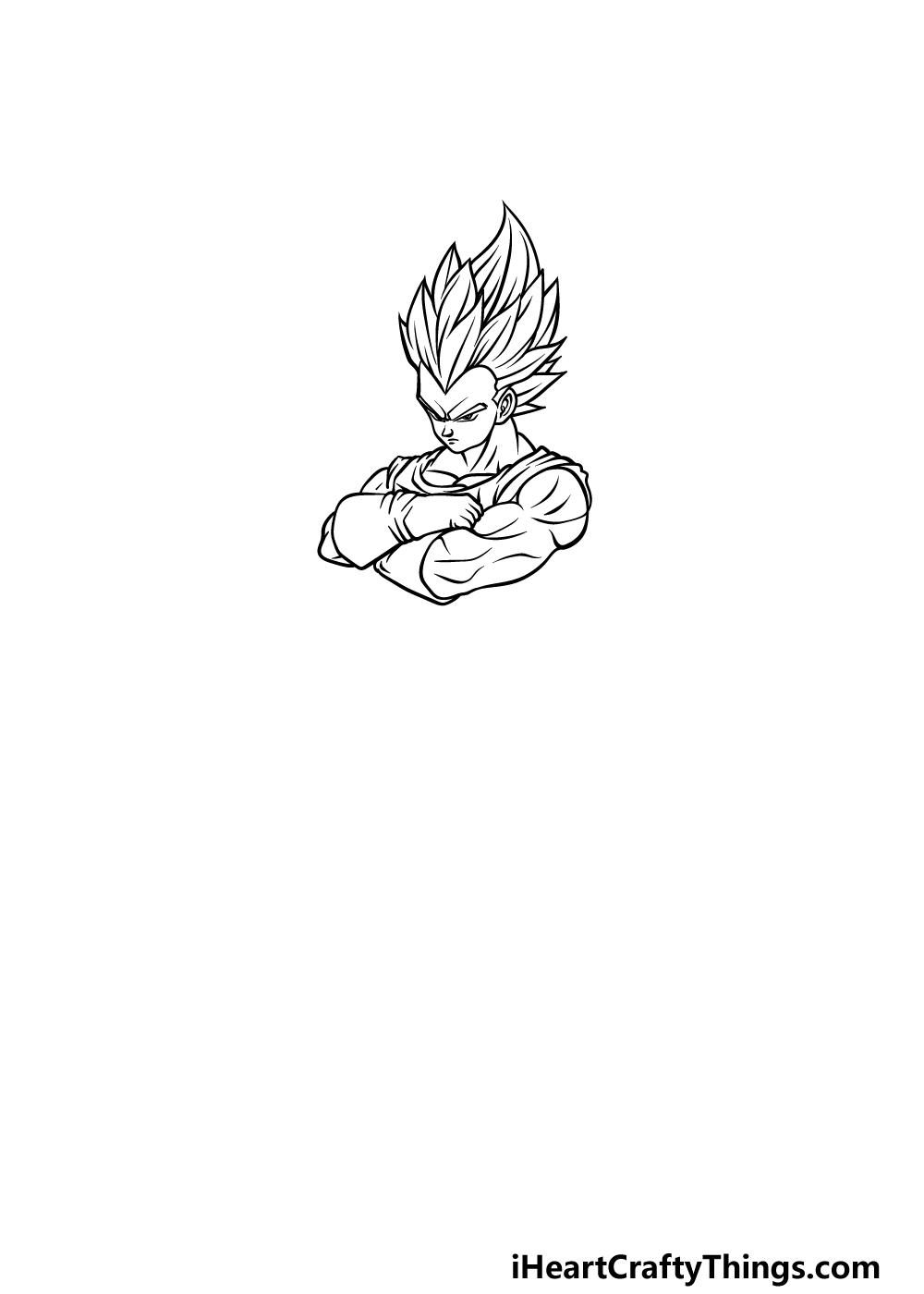 drawing Vegeta step 2