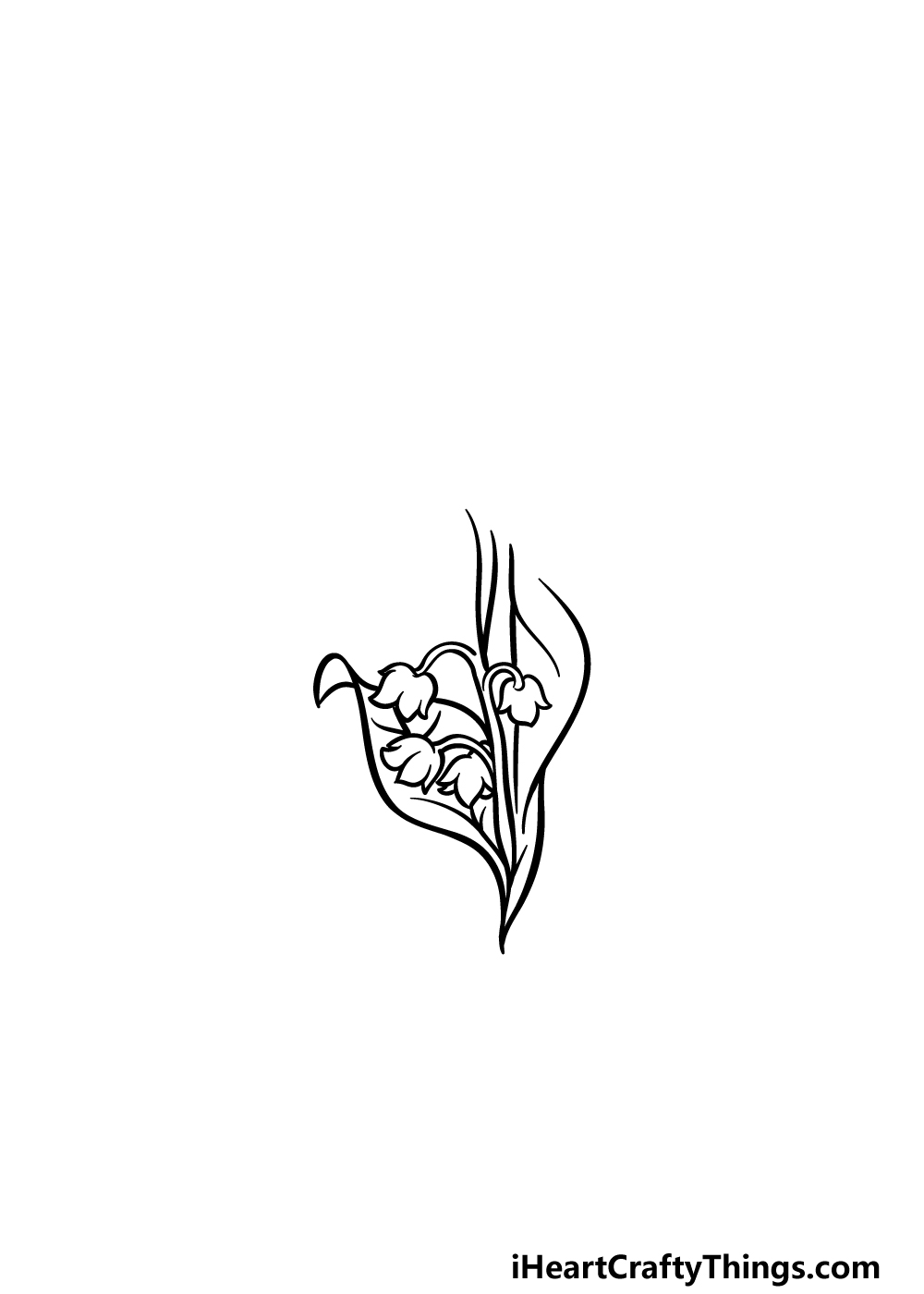 drawing lily of the valley step 2