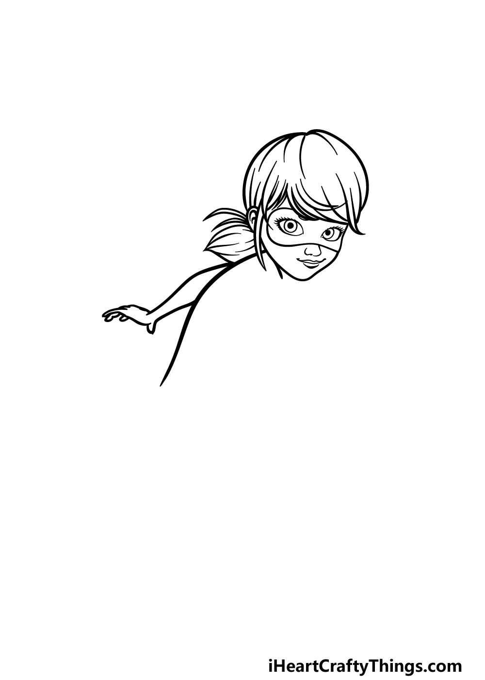 drawing Miraculous Ladybug step 2