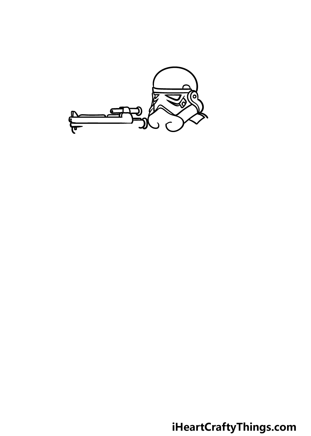 drawing a Stormtrooper step 2