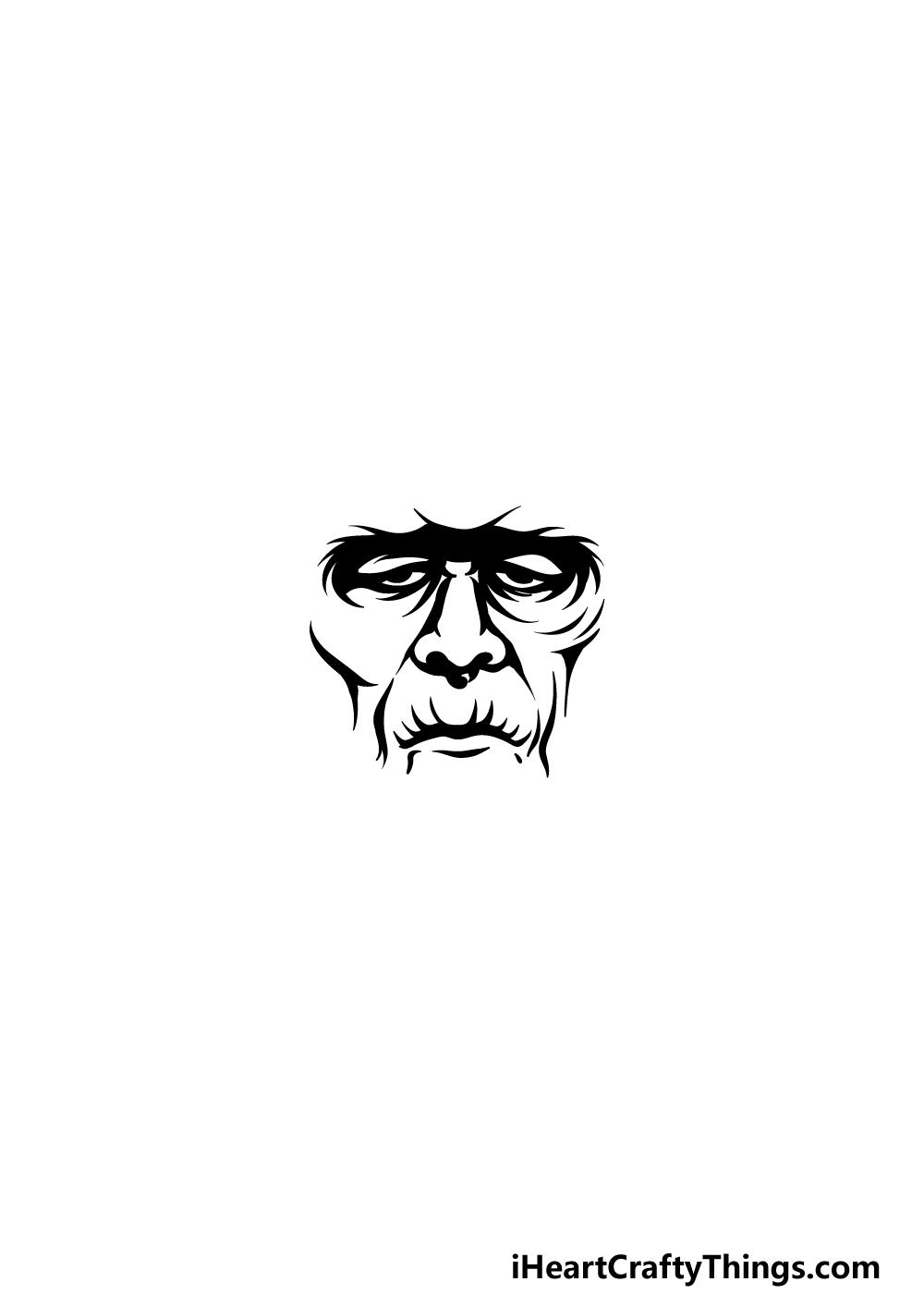 Drawing Frankenstein step 2