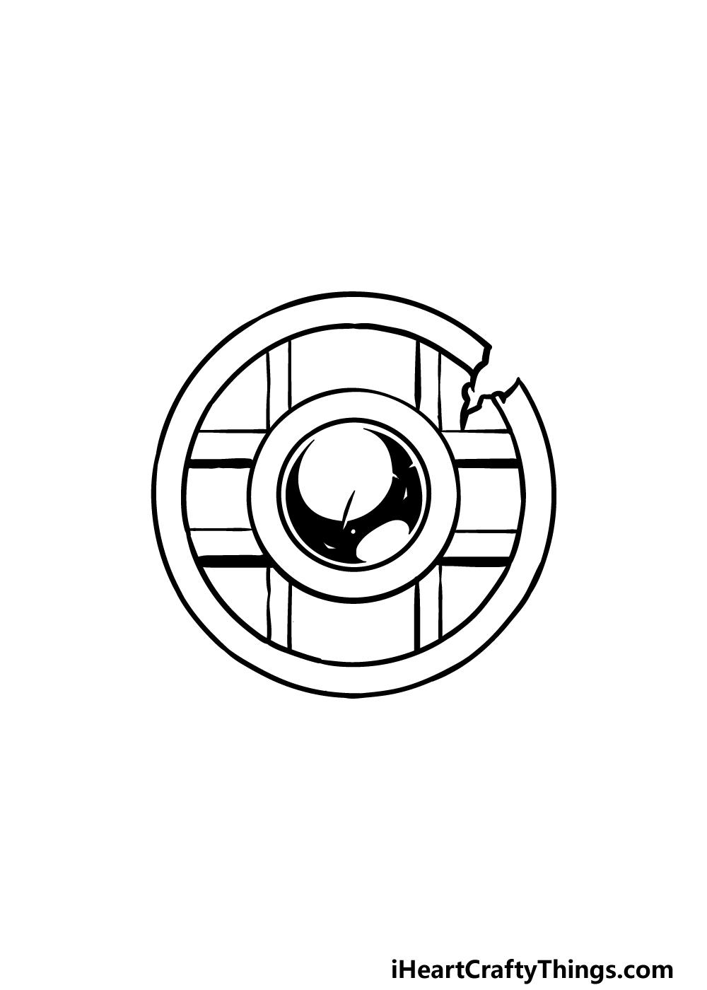drawing a shield step 2