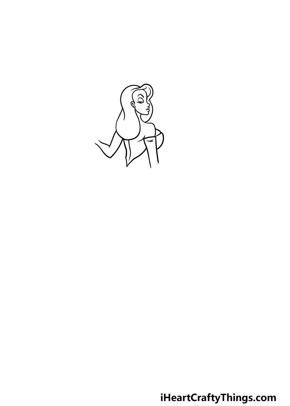 drawing Jessica Rabbit step 2
