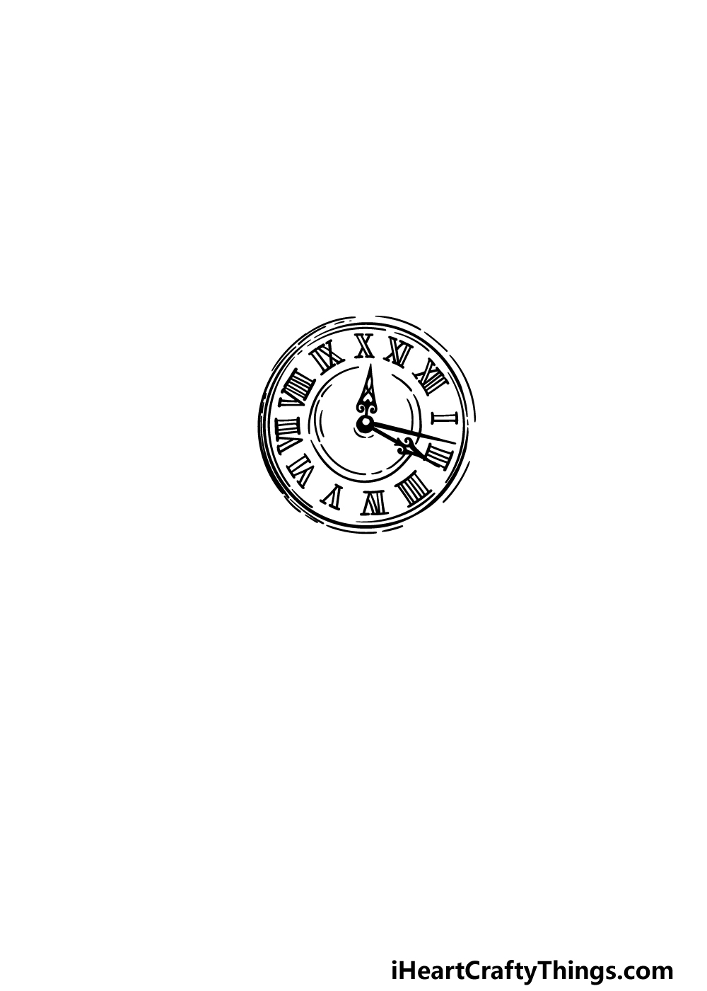 drawing a pocket watch step 2