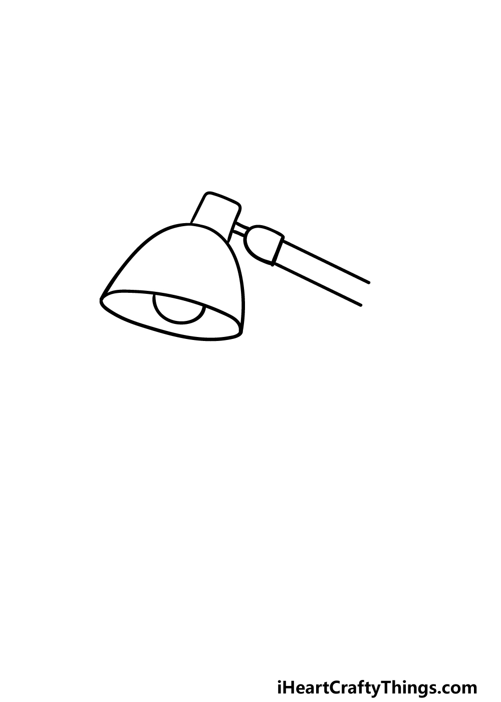 drawing a lamp step 2