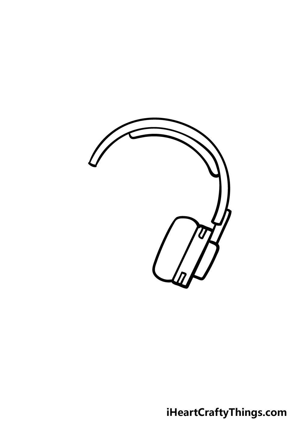 drawing headphones step 2