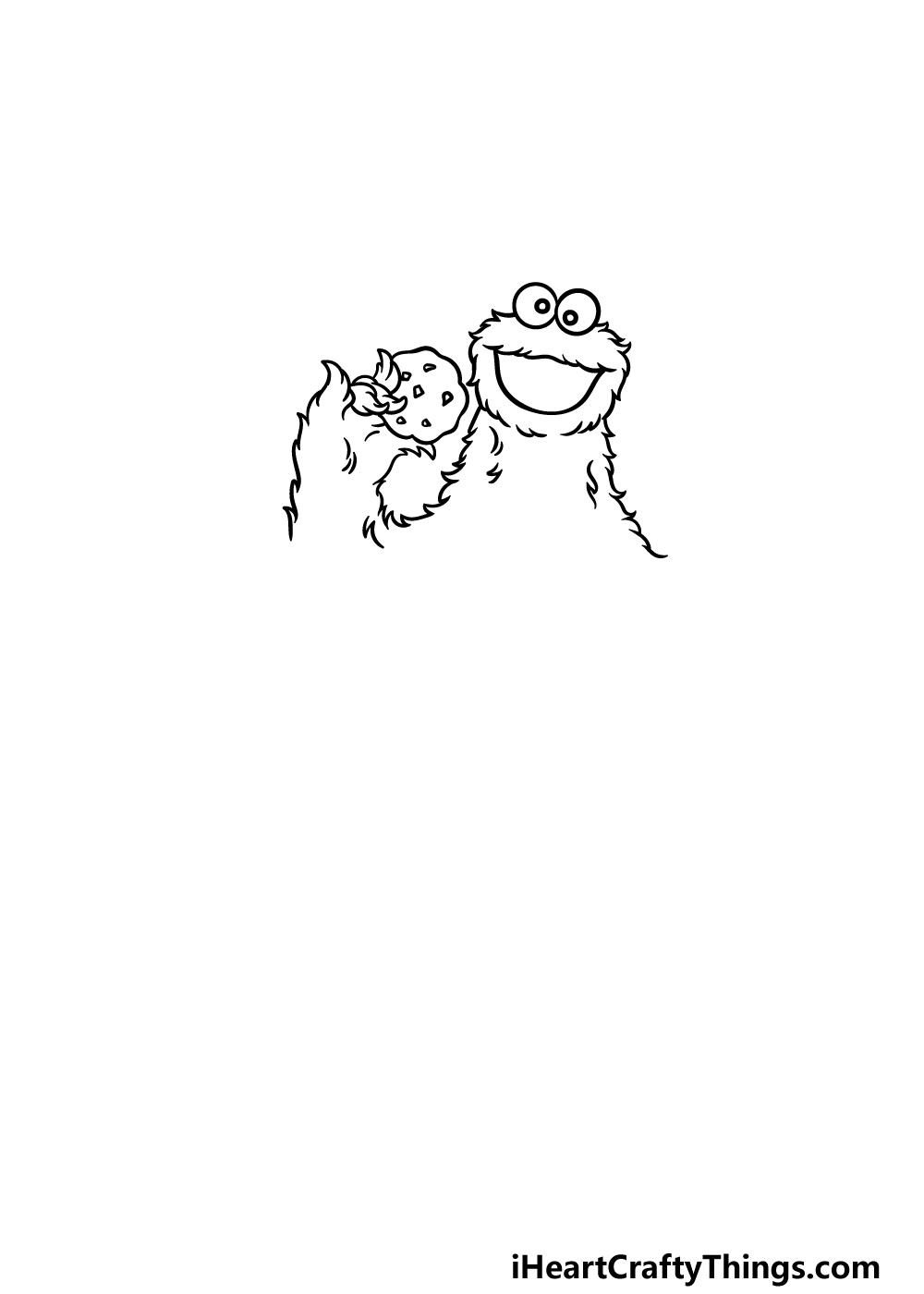 drawing a cookie monster step 2