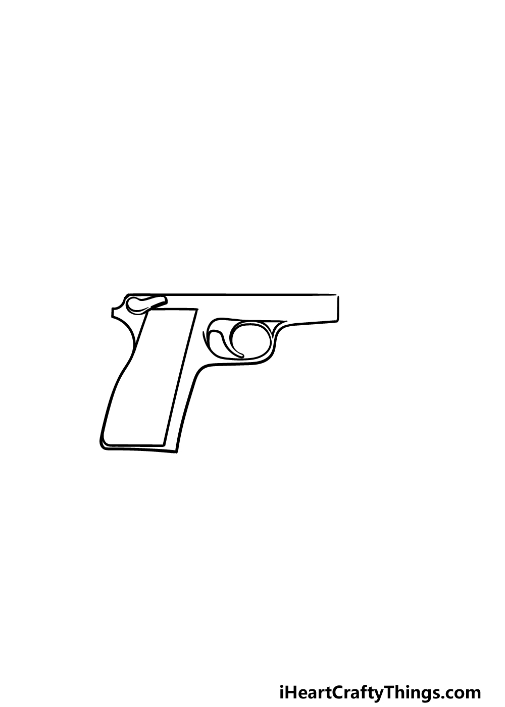 drawing a pistol step 2