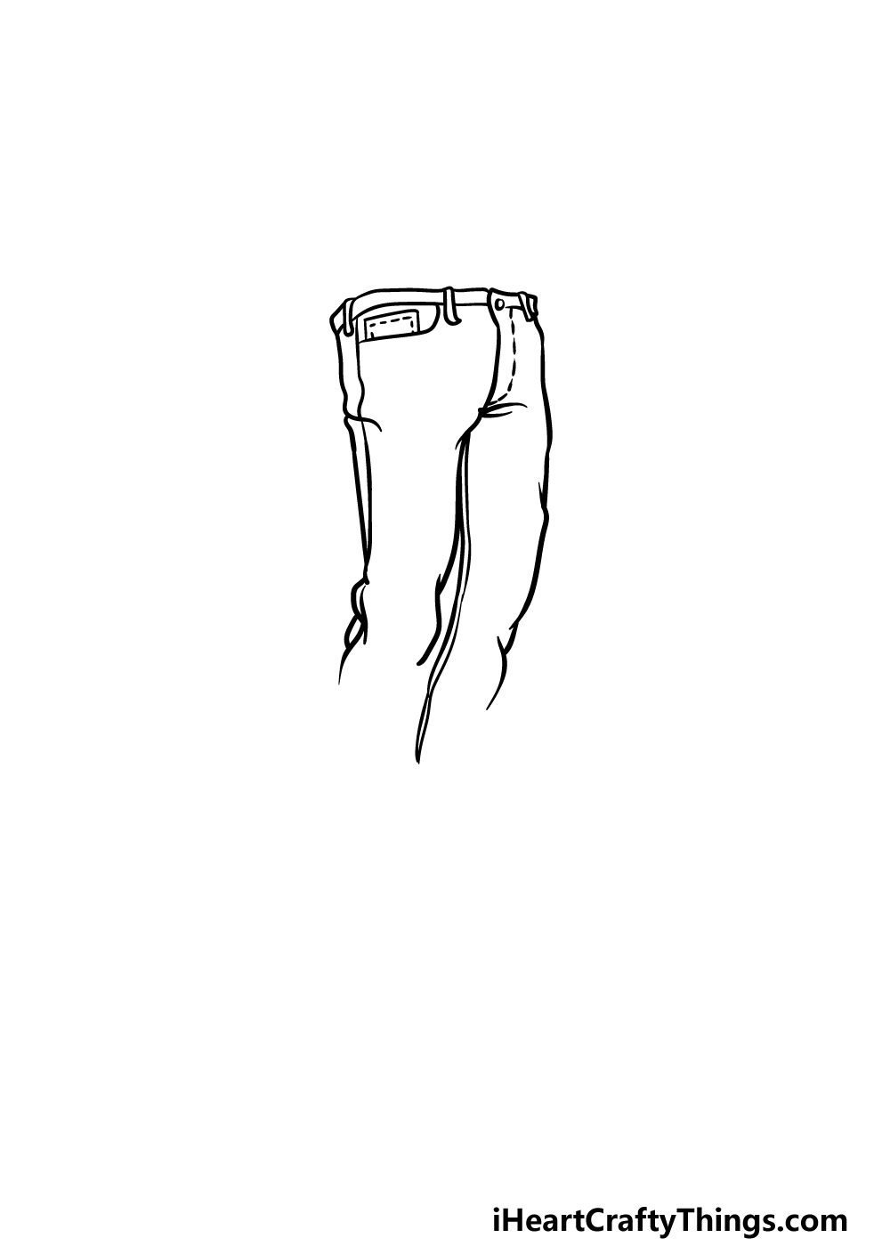 drawing jeans step 2