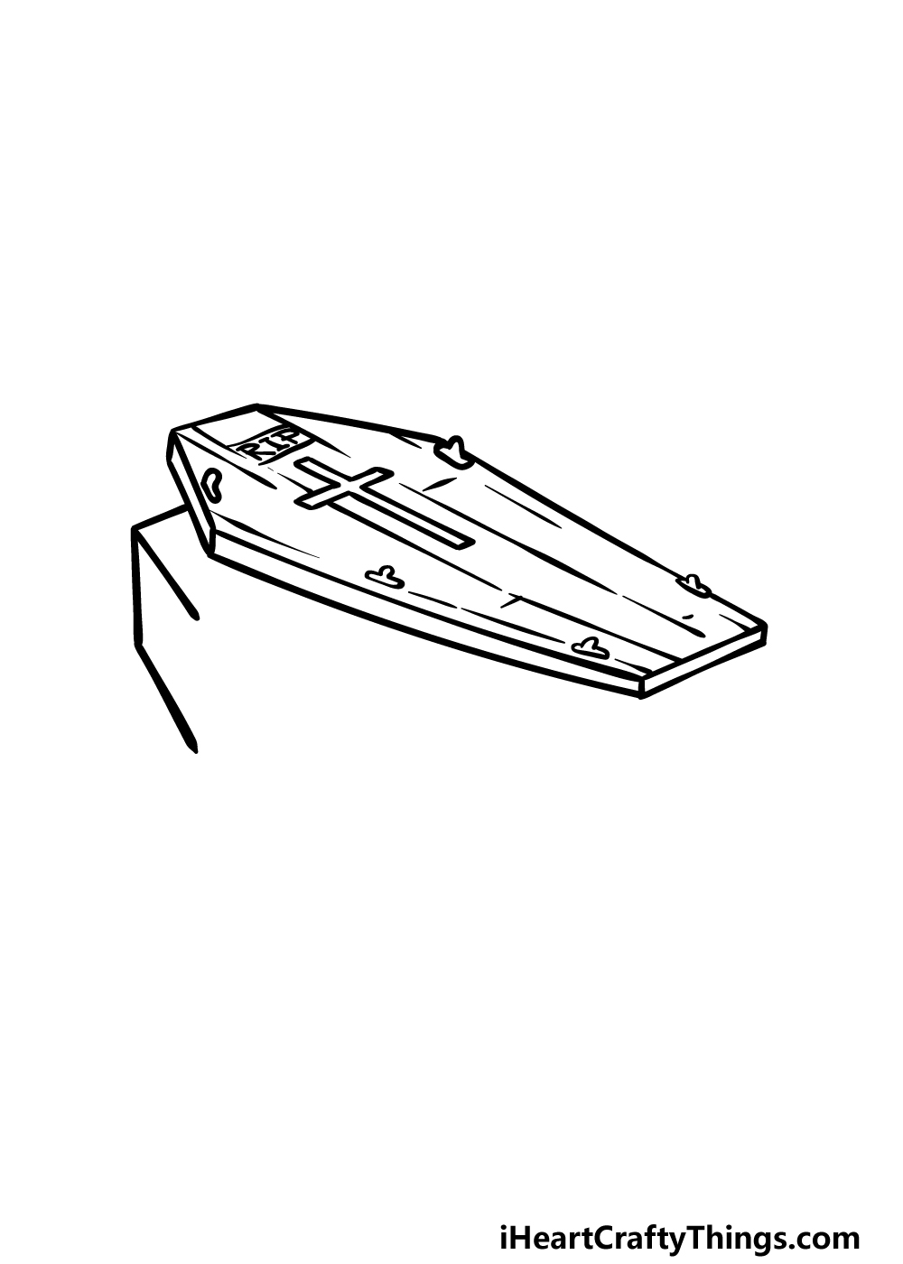 drawing a coffin step 2