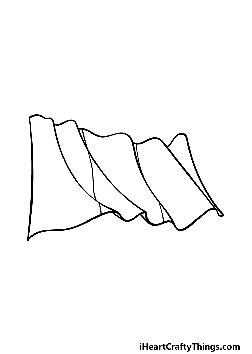 drawing Mexican flag step 3