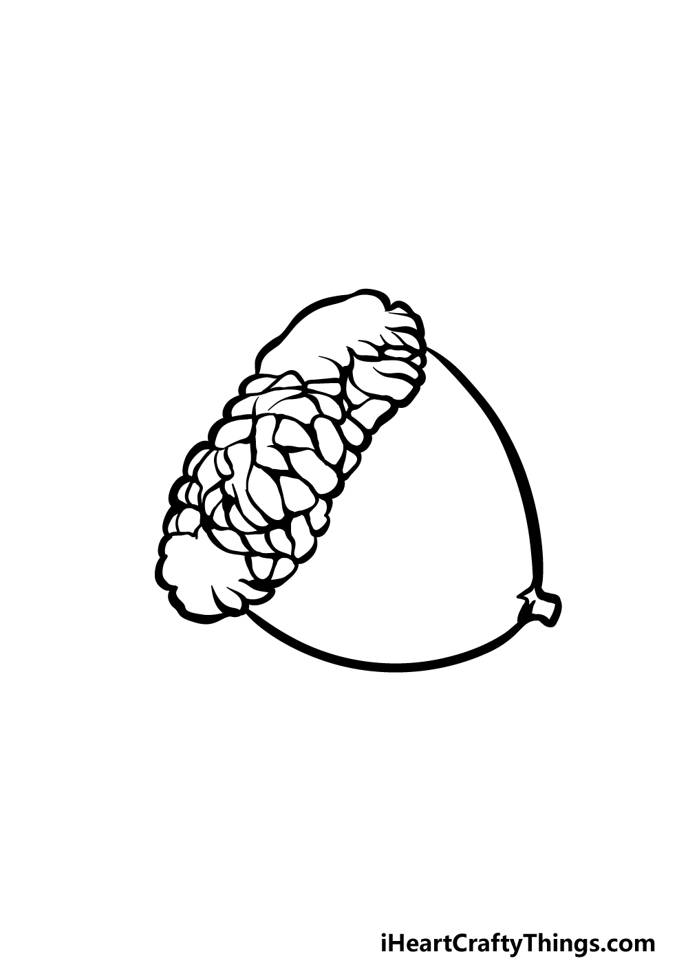drawing acorn step 3