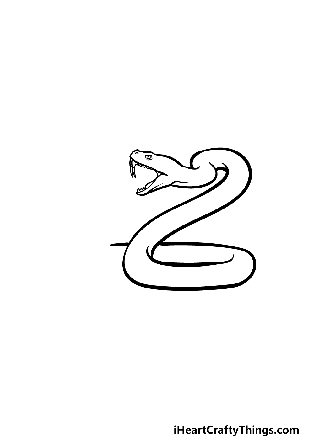 drawing a rattlesnake step 3