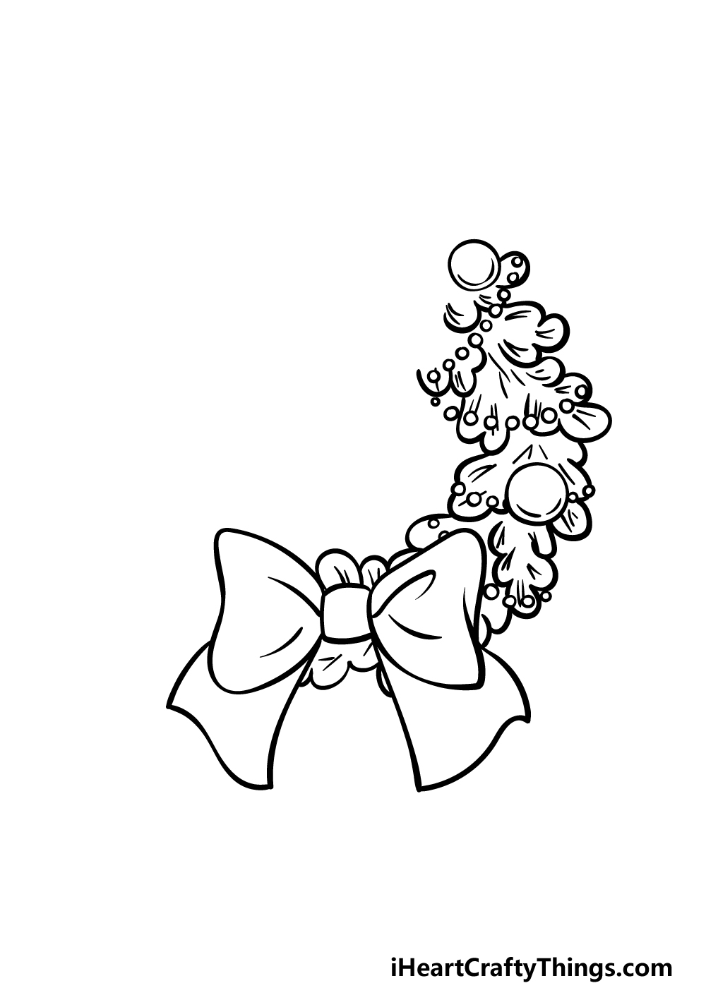 drawing a wreath step 3
