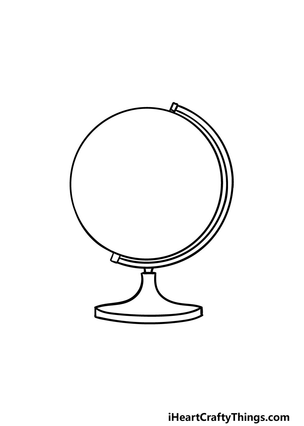 drawing a globe step 3