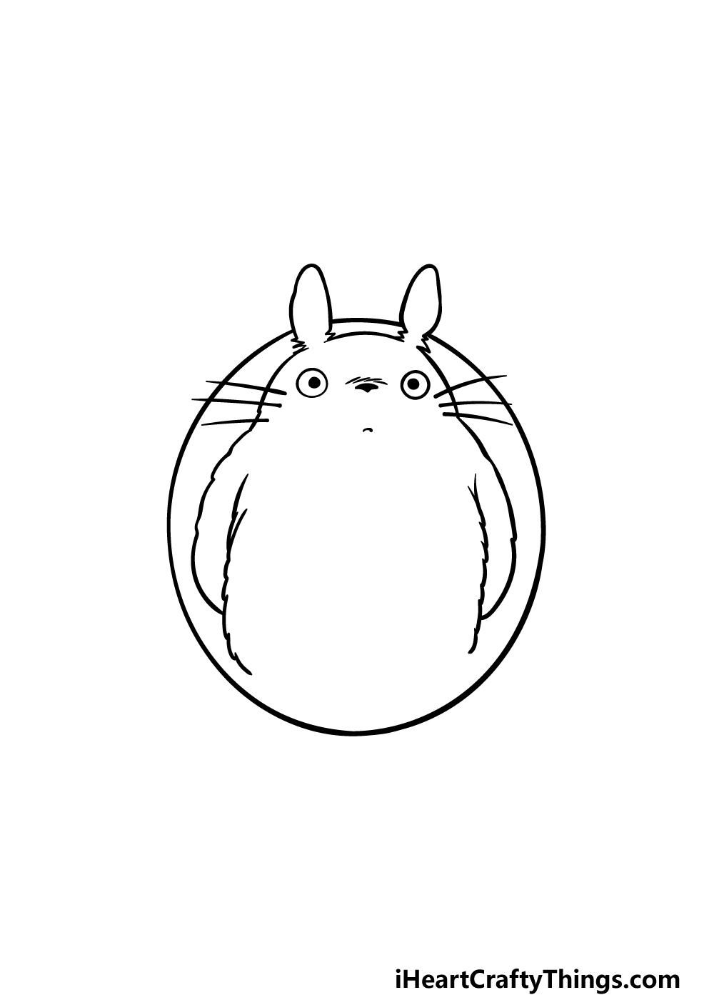 drawing Totoro step 3