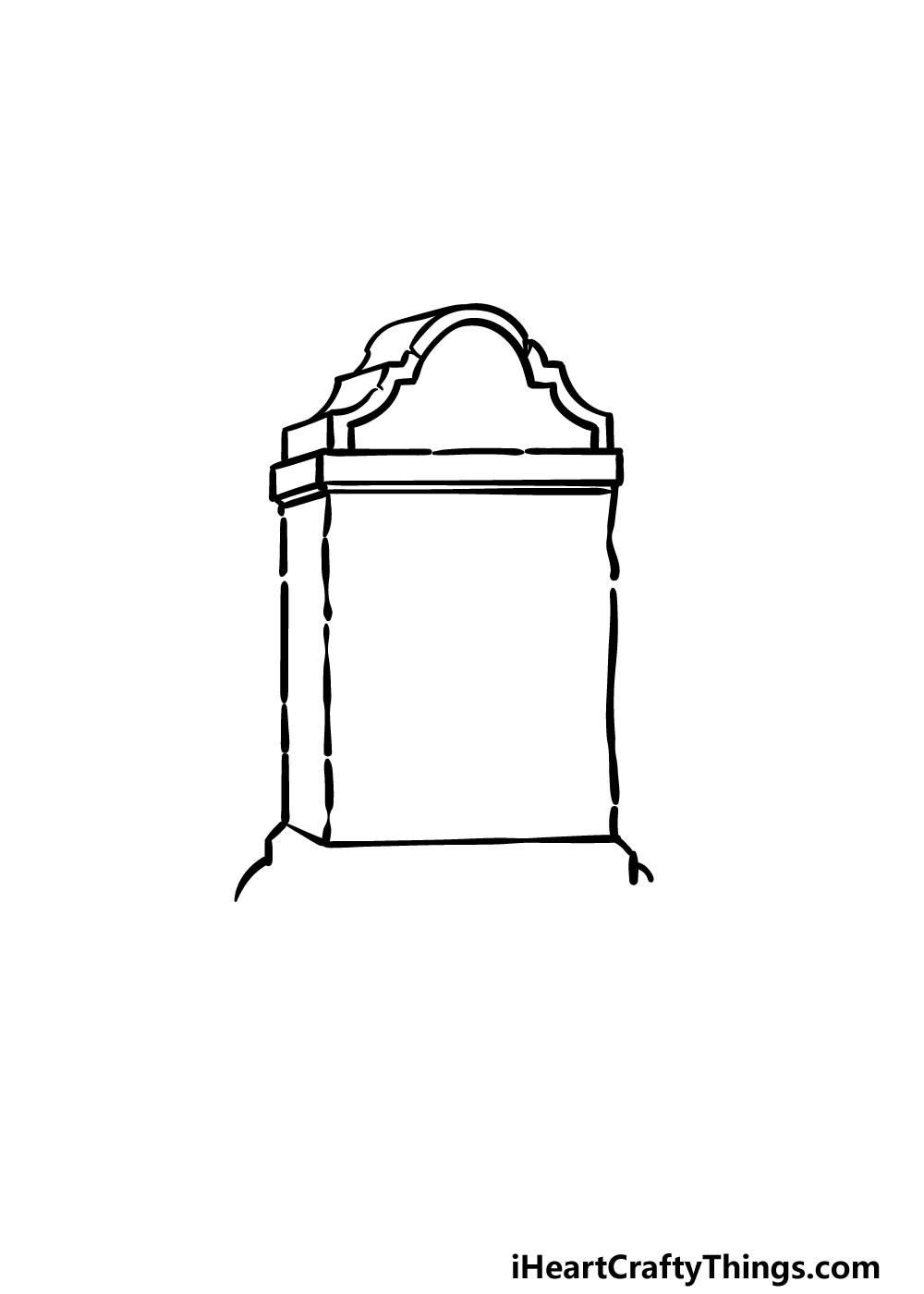 drawing a tombstone step 3