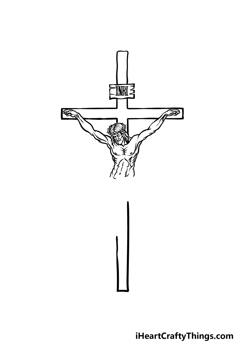 drawing Jesus on The Cross step 3