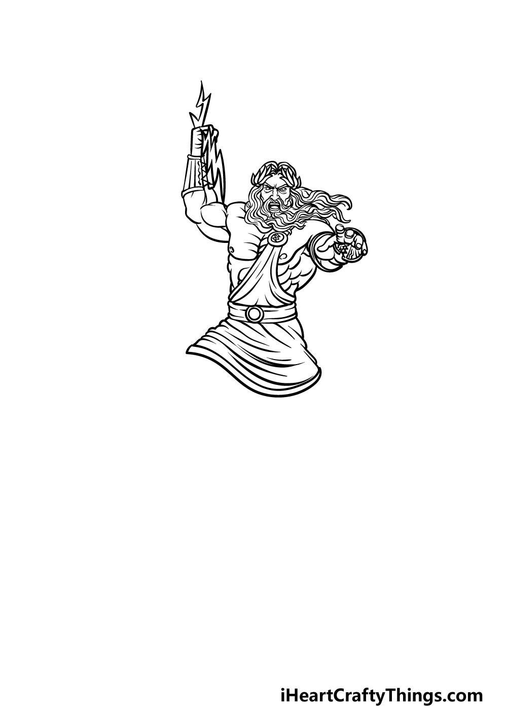 drawing Zeus step 3