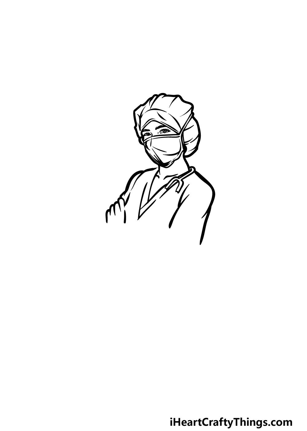 drawing a nurse step 3