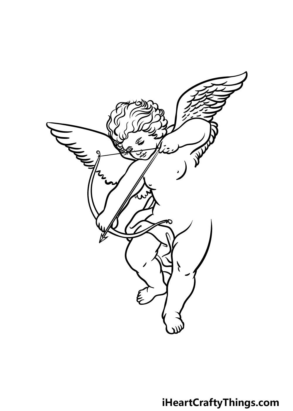 drawing cupid step 3