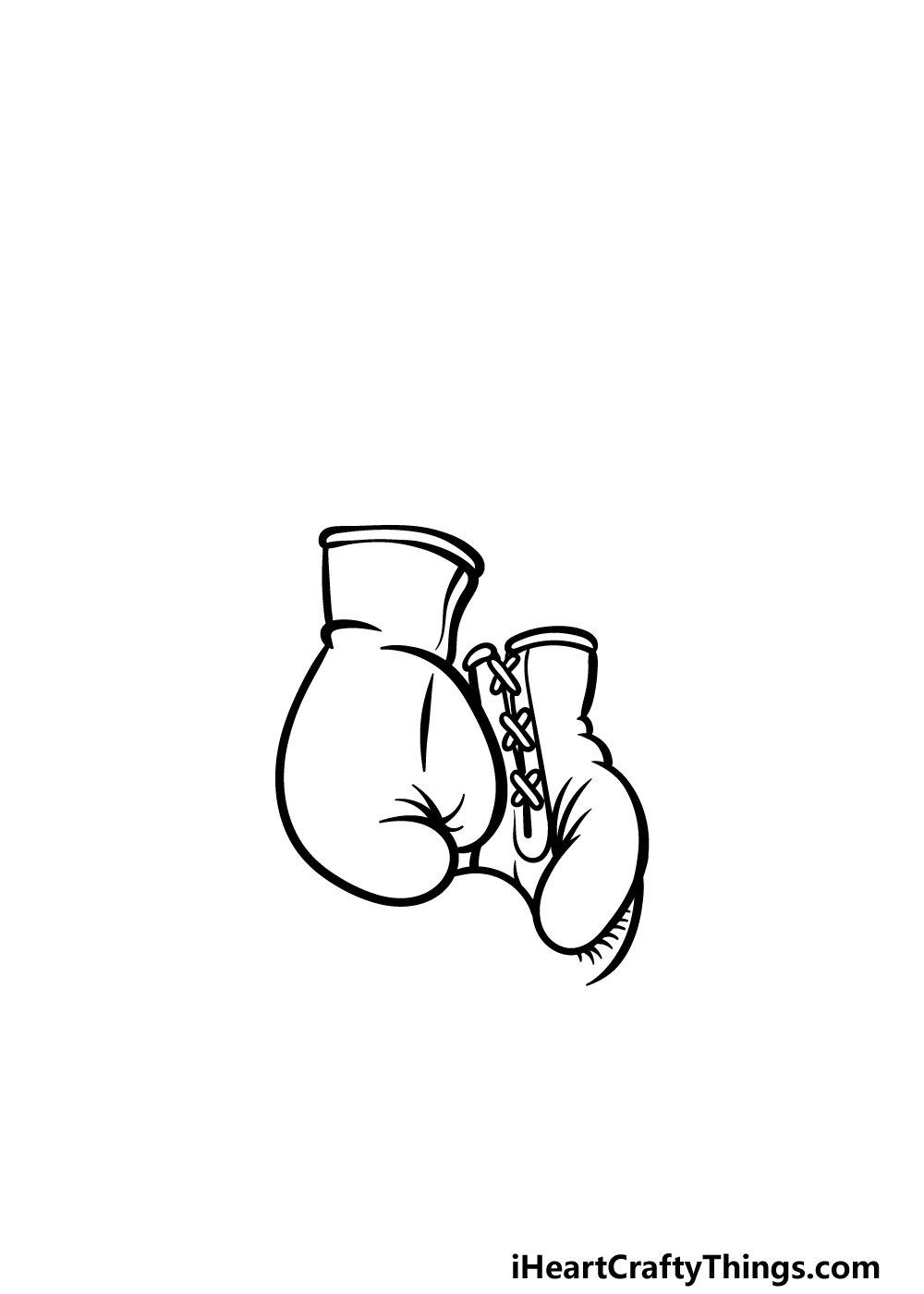drawing boxing gloves step 3