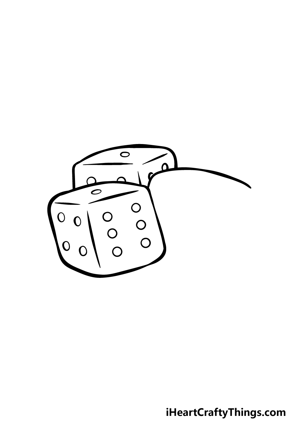 drawing the dice step 3
