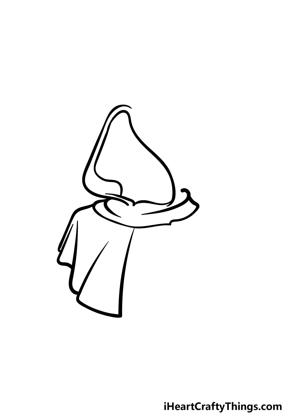 drawing a hood step 3