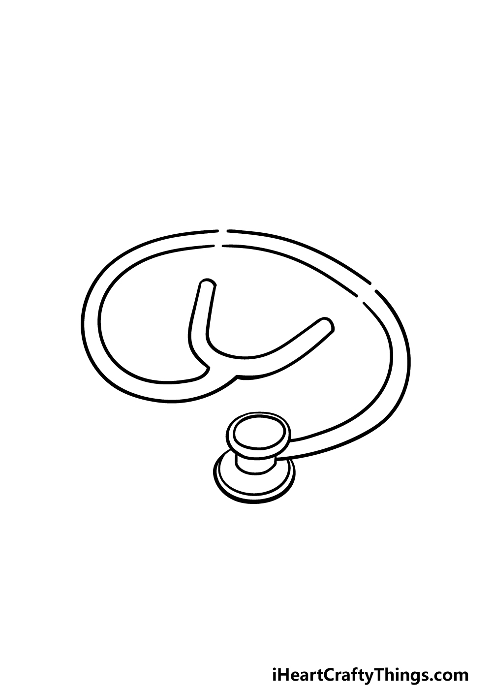 drawing stethoscope step 3