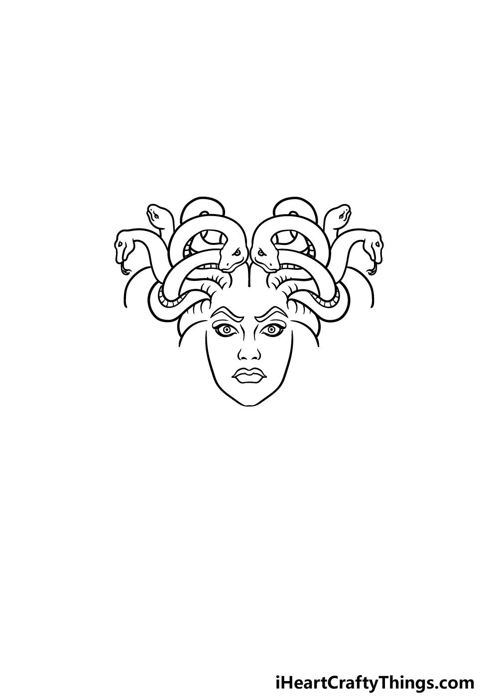 drawing Medusa step 3