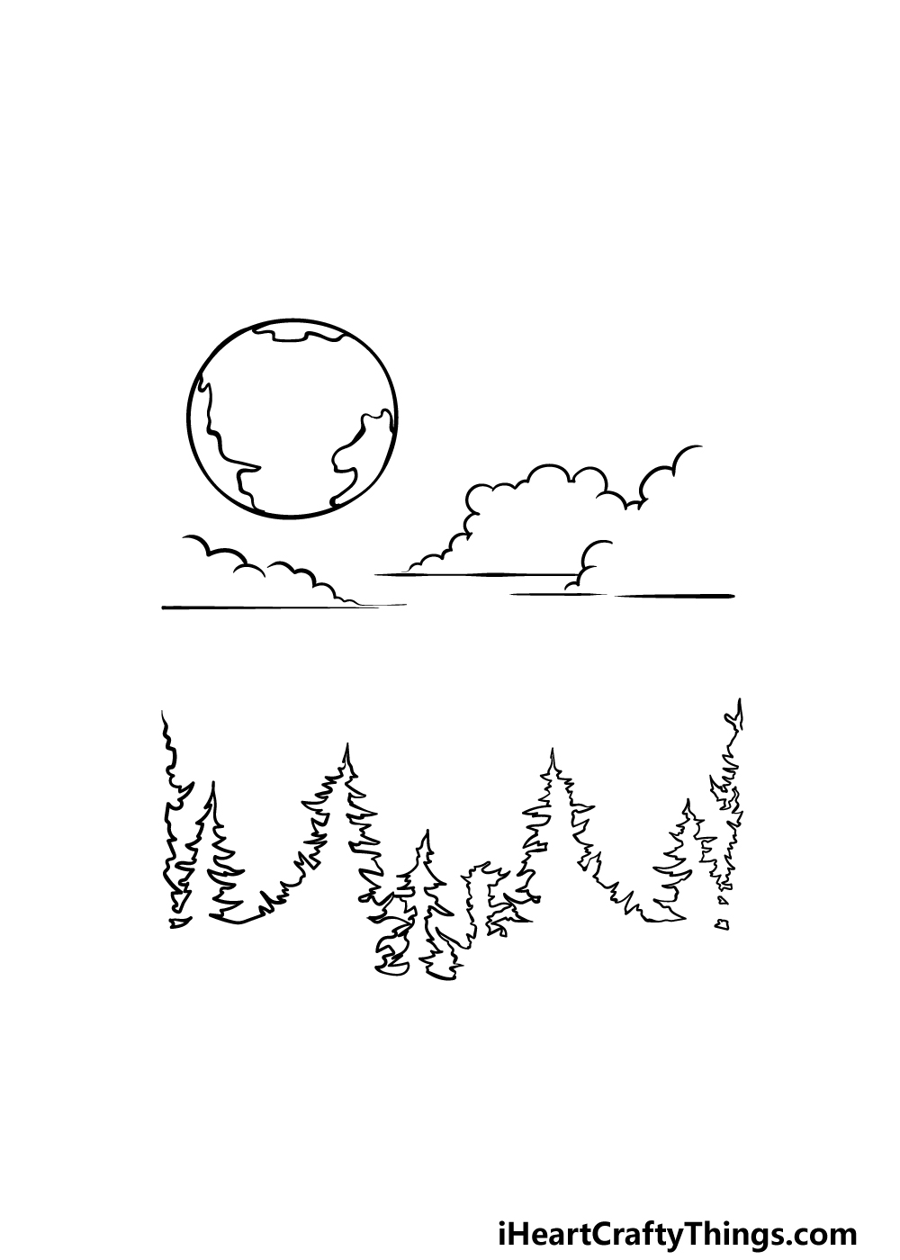 drawing sky step 3
