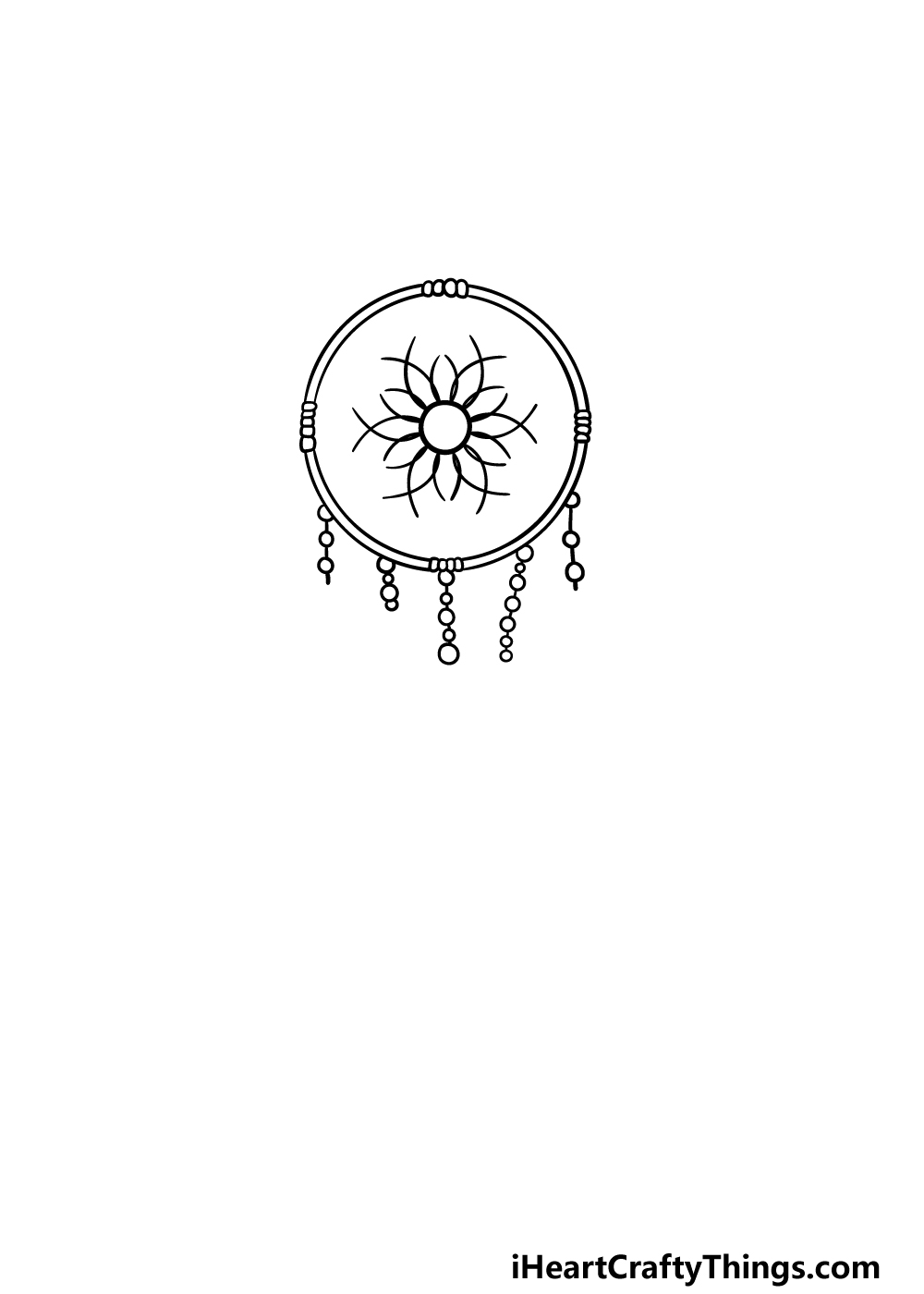 drawing dream catcher step 3
