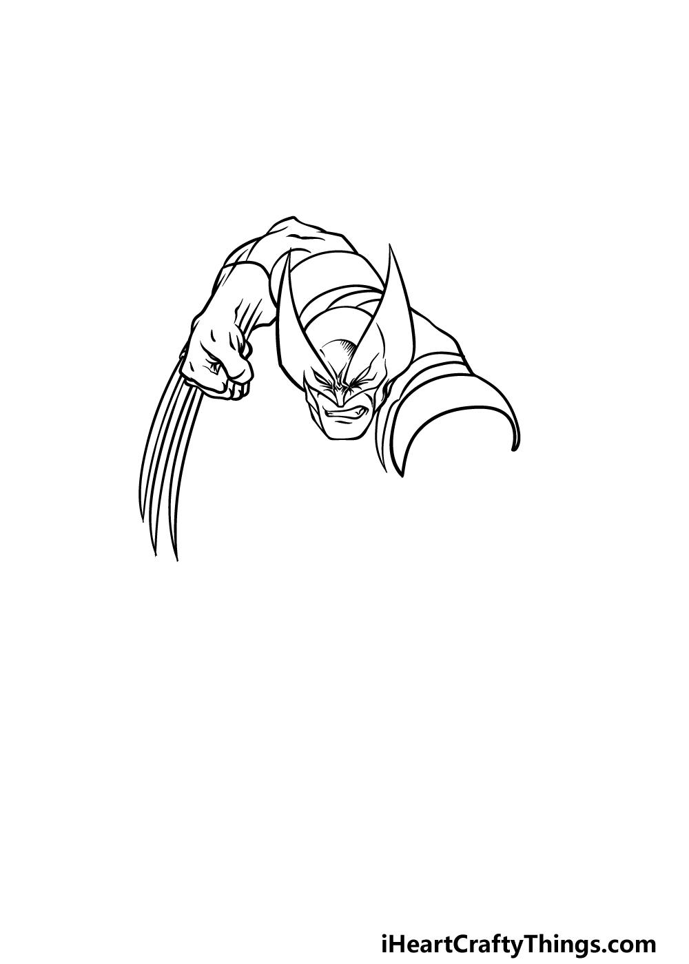 drawing wolverine step 3