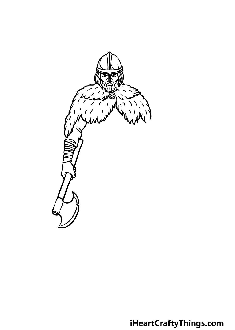 drawing a viking step 3