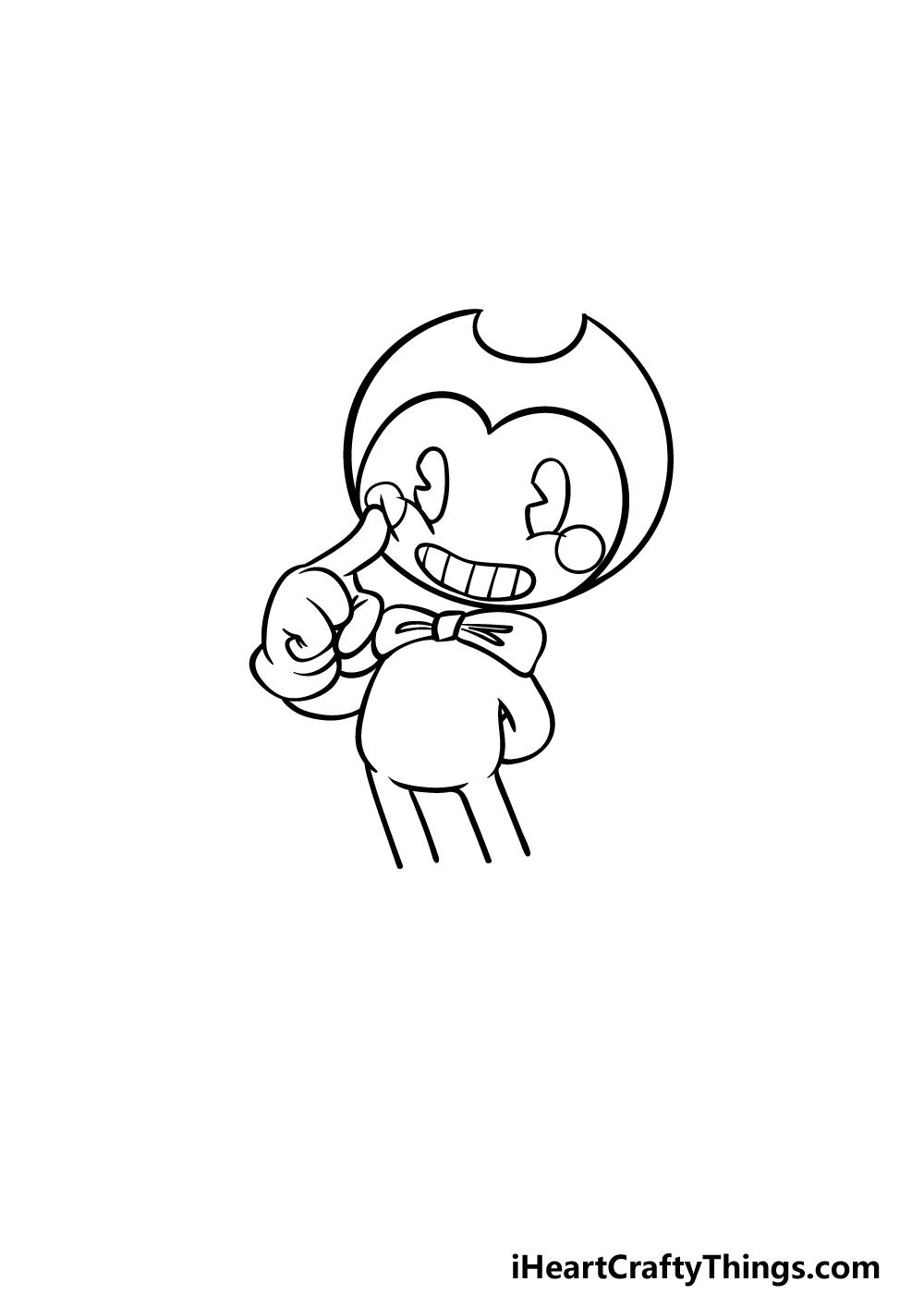 drawing Bendy step 3