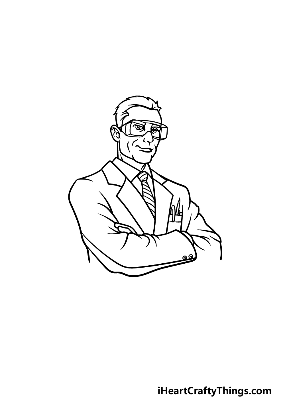 drawing a scientist step 3