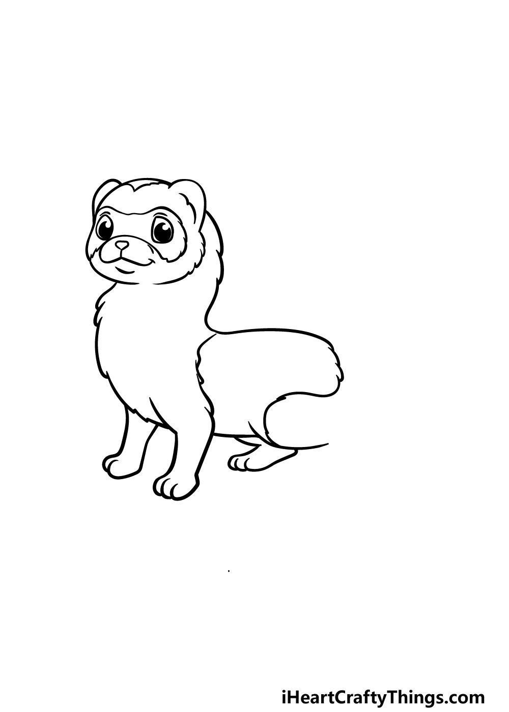 drawing a ferret step 3