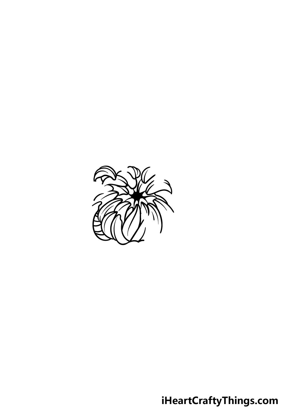 drawing Chrysanthemum step 3