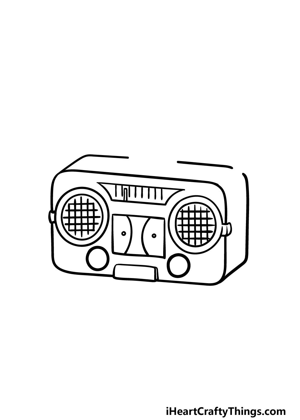 drawing a radio step 3