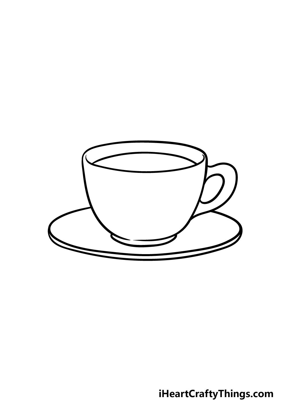 drawing a tea cup step 3