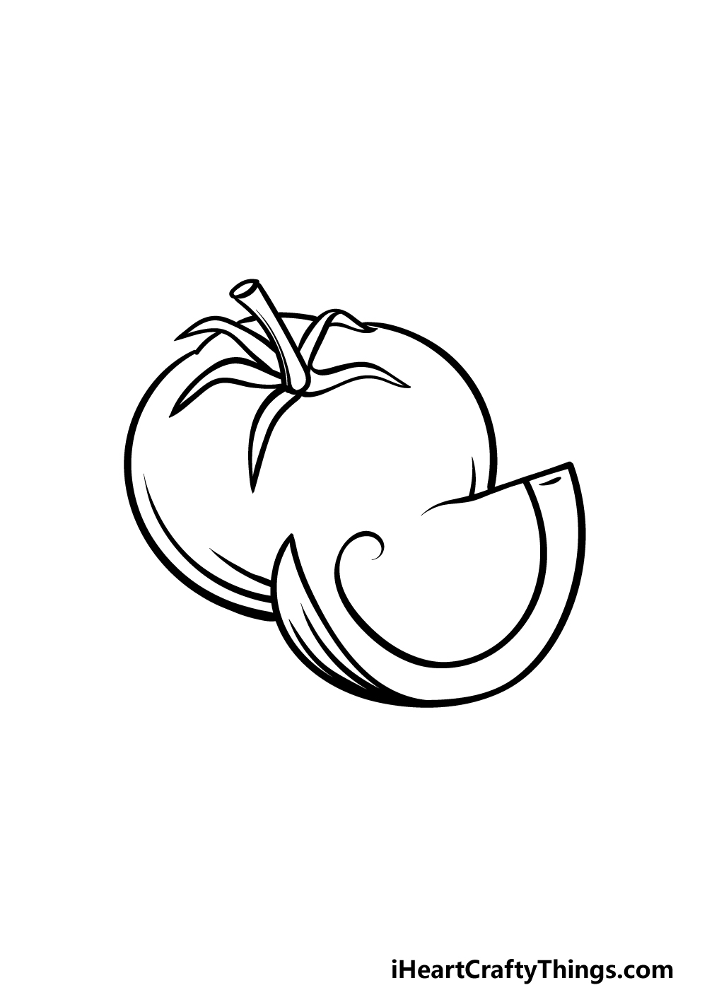 drawing a tomato step 3
