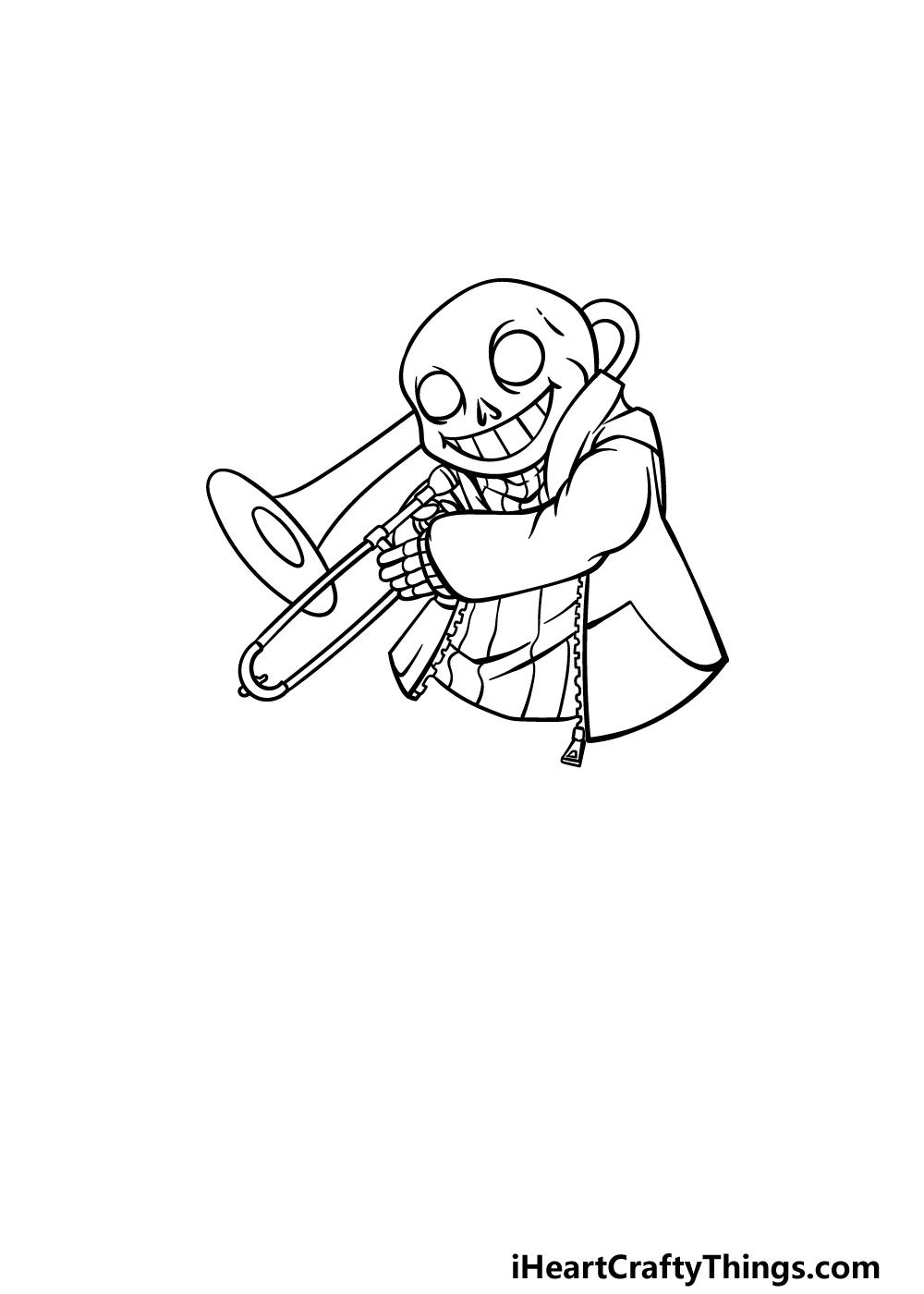 drawing Sans step 3